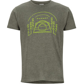 Marmot Camp Outdoor SS Tee Men Olive Heather